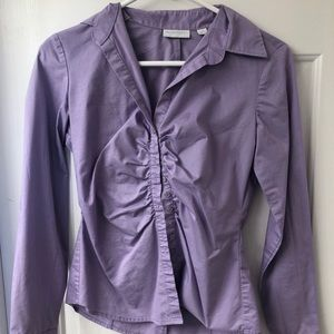 Purple New York and Company Button Down
